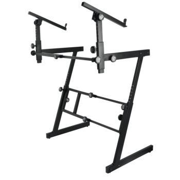 Pro Heavy-Duty Folding-Z Keyboard w/ 2nd Tier (OA-KS7365-EJ)