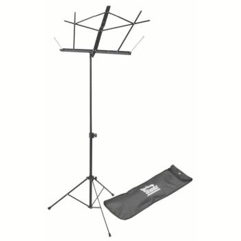 Compact Sheet Music Stand (Black, with Bag) (OA-SM7122BB)