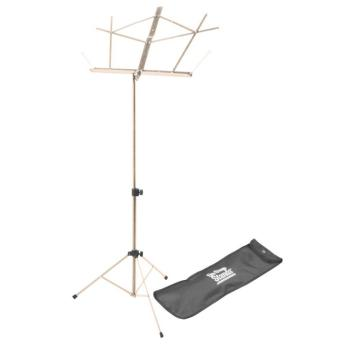 Compact Sheet Music Stand (Nickel, with Bag) (OA-SM7122NB)
