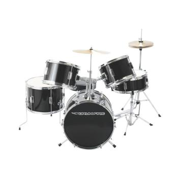 5-Piece Junior Drum Set, Gloss Black (DR-DKJ5500-GB)
