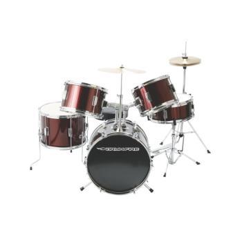 5-Piece Junior Drum Set, Gloss Black (DR-DKJ5500-WR)