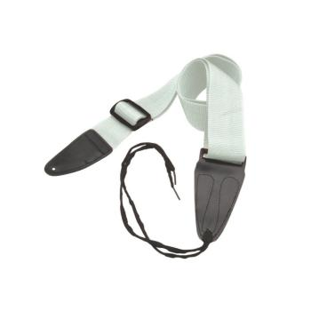 Guitar Strap with Leather Ends (White) (OT-GSA10WT)