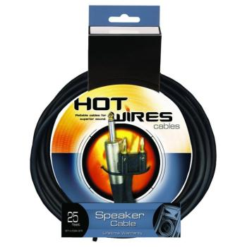 14AWG Speaker Cable (25', Banana-QTR) (HO-SP14-25BAQTR)